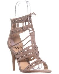 Vince Camuto - Kazie Studded Lace Up Heeled Sandals - Lyst