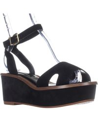 Kensie - Tray Platform Ankle Strap Sandals - Lyst