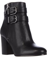 Via Spiga | Briella Double Strap Buckle Ankle Boots - Black | Lyst
