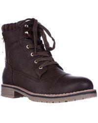 Tommy Hilfiger - Omar2 Knit Top Combat Boots - Lyst