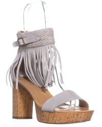 Nanette Lepore - Nanette Vanessa Fringe Ankle Strap Sandals - Lyst