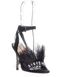 10ca4187d7b Ivanka Trump - Kasie Front Feathered Ankle Strap Sandals - Lyst