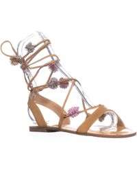Carlos By Carlos Santana - Gia Flat Lace Up Sandals - Lyst