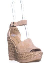 Stuart Weitzman - Sohojute Platform Wedge Sandals - Lyst