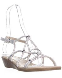 Rialto - Gillian Low Wedge Strap Sandals - Lyst