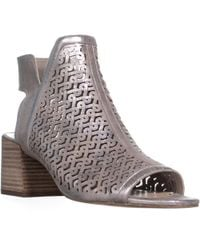 Vince Camuto - Sternat Perforated Block Heel Boots - Lyst