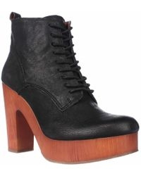 Lucky Brand - Tafari Plaftorm Lace Up Ankle Boots - Lyst