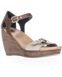 c5f4bcb73bf Lyst - Dr. scholls Lilah Women Open Toe Synthetic Wedge Sandal in Brown
