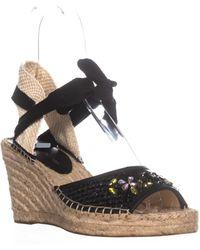 Ivanka Trump - Dalyna Gladiator Wedge Sandals, Black - Lyst