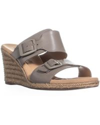 Clarks - Lafley Devin Wedge Espadrilles Sandals - Lyst