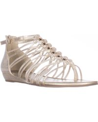 Guess - G By Jonsie Flat Strappy Sandals - Lyst