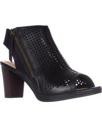 Bella Vita - Lenore Heeled Peep Toe Zip Sandals - Lyst