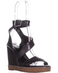 Vince Camuto - Ivanta Strappy Wedge Sandals, Black - Lyst