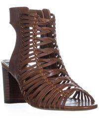 Lauren by Ralph Lauren - Hali-sn-cs Zip Up Sandals - Lyst