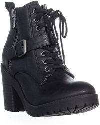 Rampage - Haydee Lace Up Combat Boots, Black - Lyst