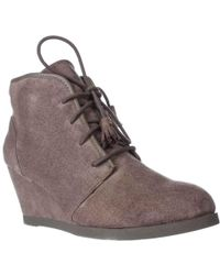 Madden Girl - Dallyy Lace Up Wedge Ankle Booties - Lyst