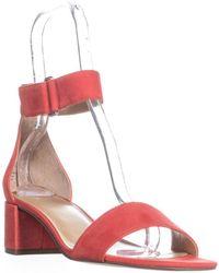 Franco Sarto - Rosalina Heeled Ankle Strap Sandals - Lyst