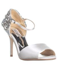 Badgley Mischka - Honour Rhinestone Sandals - Lyst
