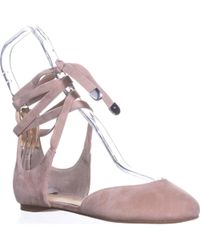 Ivanka Trump Elise Lace Up Ballet Flats