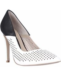 French Connection - Maya2 Perforated Two-tone Court Shoes - Lyst