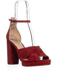 38ba633c9d6c Lyst - Vince Camuto Sammson Peep Toe Strappy Dress Sandals in Black ...