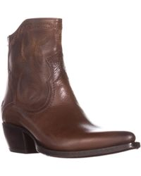 Frye - Shane Embroidered Short Western Boots - Lyst