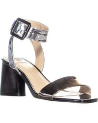 Guess - Saloni Block Heel Ankle Buckle Strap Sandals - Lyst