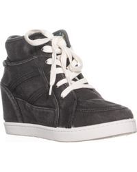 Roxy - Alexa Wedge Lace-up Trainers - Lyst