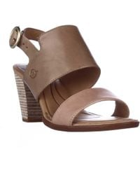 Born - Cindie Block Heel Ankle Strap Sandals - Lyst