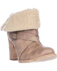 Chinese Laundry Big Deal Fleece Foldover Winter Ankle Boots