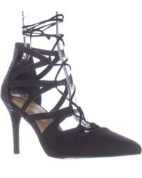 Rampage - Sleepless Lace Up Pointed Toe Dress Court Shoes - Black - Lyst