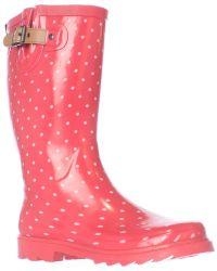 Chooka - Classic Dot Mid Calf Rain Boots - Lyst