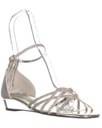 Easy Street - Tarrah Ankle Strap Wedge Sandals - Lyst