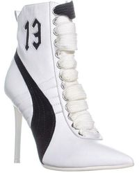 b7613289211a PUMA Women s Leather Chelsea Sneaker Booties in White - Lyst