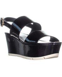 Guess - Kaelan Slingback Platform Sandals - Lyst