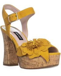 ec485aee9ef Lyst - DSquared² Wedge Hitop Sneakers in White