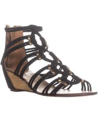 Report - Maple Wedge Zip Up Sandals - Lyst