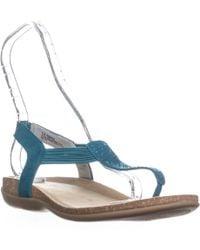 Bandolino - Honour Rhinestone Slip On Sandals - Lyst