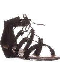 Carlos By Carlos Santana - Kenzie Flat Lace-up Sandals - Lyst