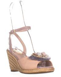 daf8e7cceae Lyst - Nanette Lepore Beatriz Espadrille Wedge Sandals in Pink