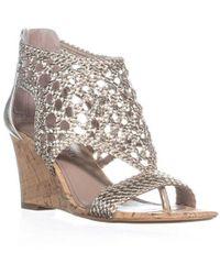 Donald J Pliner - Joli Perforated Wedge Sandals - Lyst