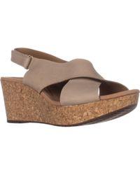 Clarks - Annadel Eirwyn Comfort Wedge Sandals - Lyst