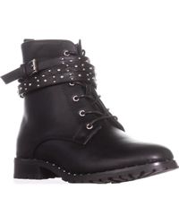 Wanted - Spirals Buckle Strap Lace-up Ankle Booties - Lyst