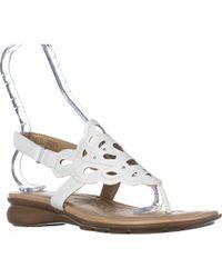 Naturalizer - Jade Thong Round Toe Sandals - Lyst