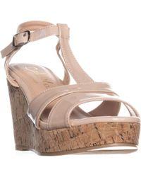22c3a6b60573 Lyst - Callisto Redmond Women Open Toe Suede Wedge Sandal