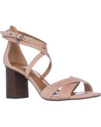 COACH - Phoebe Strappy Block Heel Sandals - Lyst