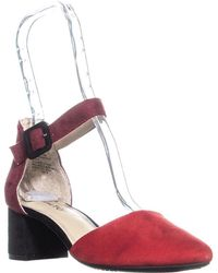 Rialto - Mayer Pointed Toe Buckle Court Shoes - Lyst