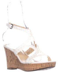 Franco Sarto - Carnation Squre Toe Slingback Wedge Sandals - Lyst