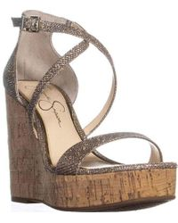 Jessica Simpson - Stassi Platform Wedge Sandal - Lyst