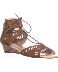 Esprit - Carol Lace Up Wedge Sandals - Lyst